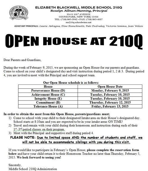 open house at 210Q